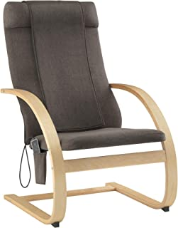 HoMedics 3-D Shiatsu Massaging Lounge Chair with 3 Zones, 2 Intensity Settings and Flap, Soothing Heat, Remote, Spot Massage, and 2-Year Warranty