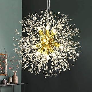 Vikaey Dandelion Crystal Chandeliers, 12-Light Firework...