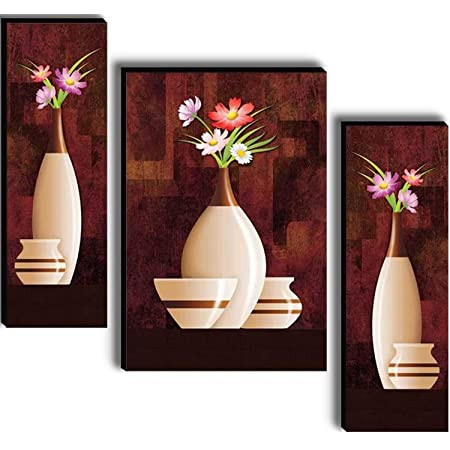 SND Art Beautiful Flower Floral 6MM MDF Framed UV Coated Wall Painting for Living Room 12 inch X 18 inch, Standard