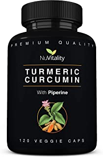 Turmeric Curcumin with Piperine (Black Pepper Extract) - 120 Veggie Capsules - Premium Quality with 95% Standardized Curcuminoids - Best Absorption & Potency - Pain Relief & Joint Support Supplement