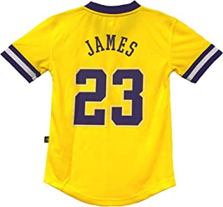 Outerstuff Lebron James Los Angeles Lakers NBA Youth 8-20 Yellow Home Pride Performance Jersey