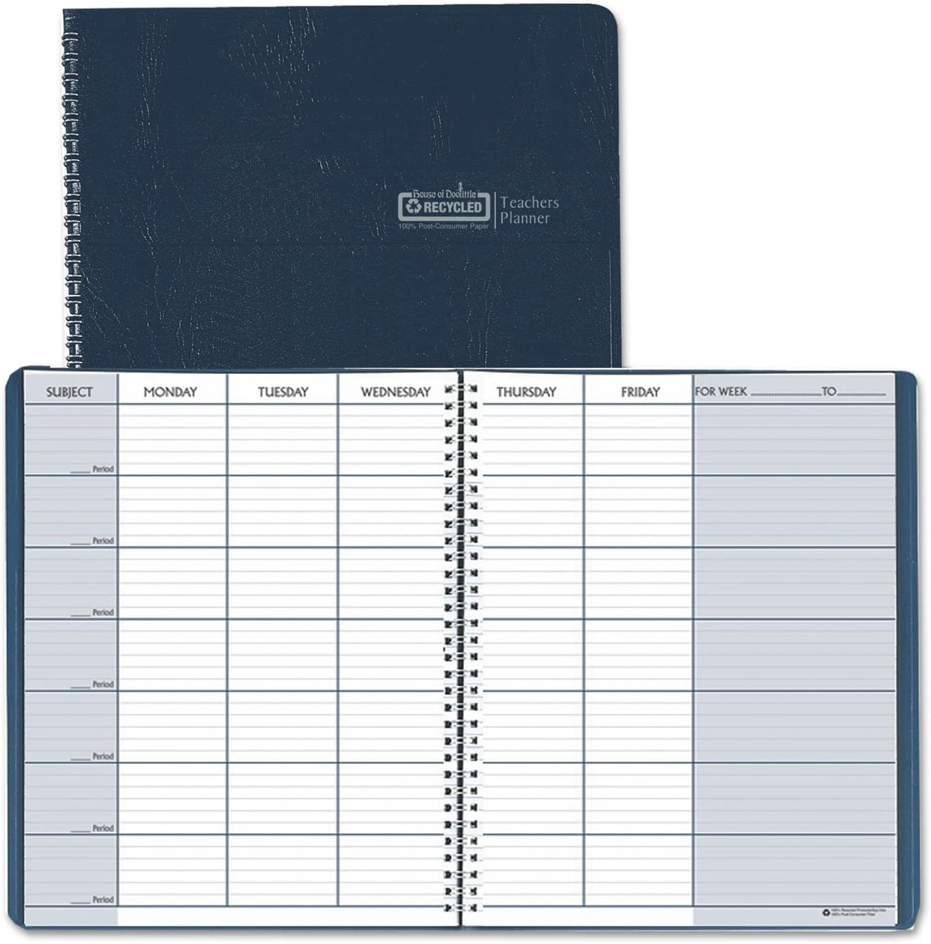 Teacher's Rapid rise Planner Embossed Simulated Leather 11 8-1 2 Cover Genuine Free Shipping x