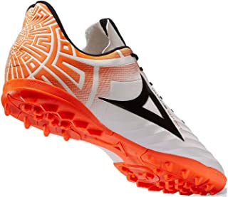 White/Orange Imperio Magno Men's Soccer Cleats or Turf Athletics Sport Shoes