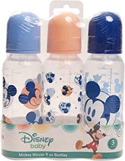 Disney Mickey Mouse 3 Pack Bottle, Mickey Mouse Face Print