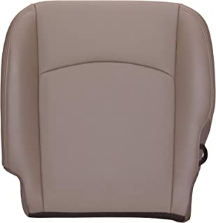 The Seat Shop Driver Bottom Replacement Perforated Leather Seat Cover - Light Pebble Beige (Compatible with 2009-2012 Dodge Ram Laramie 1500, and 2010-2012 Dodge Ram Laramie 2500/3500)
