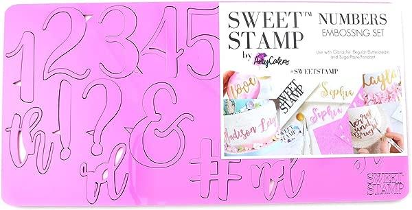 甜美印花 AmyCakes 塑料优雅的数字和符号的压花蛋糕