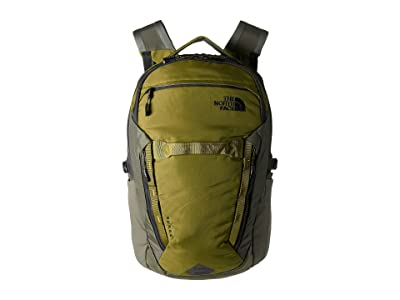 The North Face Surge Backpack (Fir Green/New Taupe Green) Backpack Bags