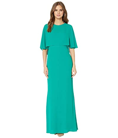 BCBGMAXAZRIA Cape Gown (Ultra Green) Women