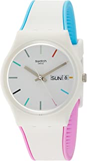 Swatch Women's Analogue Quartz Watch with Silicone Strap GW708