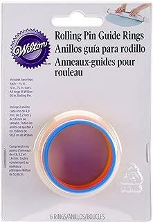 Wilton Fondant 20-Inch Rolling Pin Guide Rings