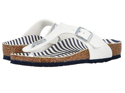 Birkenstock Kids Gizeh (Little Kid/Big Kid) (Nautical Stripes/White) Girls Shoes