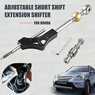 Sporacingrts Car Gear Shift Knob Extender Shifter Extension Stainless Steel Adjustable Height Lever Extension for Manual Shift Knob