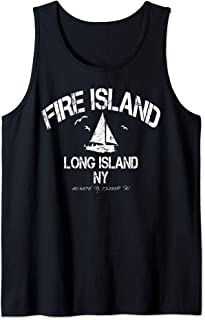 Fire Island New York Distressed Nautical Tank Top