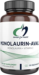 Designs for Health Monolaurin-Avail - 1000mg Glycerol Monolaurate + Vitamin C with Sunflower Lecithin to Enhance Monolauri...