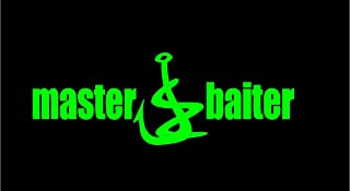 Master Baiter fishing Sticker Decal in color Iguana Green