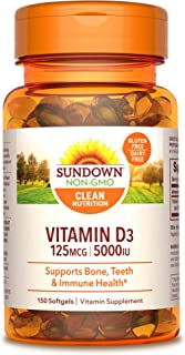 Sundown Vitamin D3 5000 IU, 150 Softgels