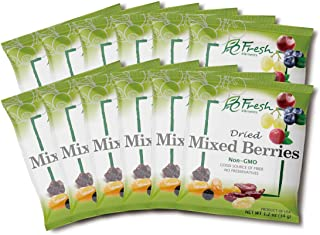 Fresh Elements Dried Mixed Berries, 1.2oz pack, Preservative Free, Gluten Free and Non GMO, Great for Salads and Baking, H...