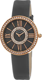 ساعة ستاهرلنغ اورجينال للنساء كوارتز مينا رمادية عرض انالوج بسوار جلد رمادي 566.059999999999