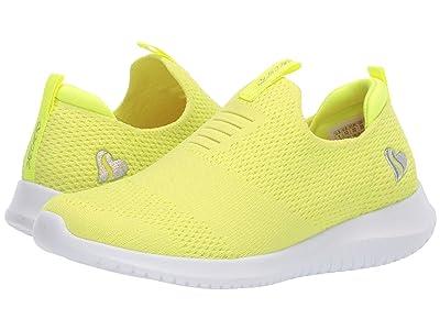 SKECHERS KIDS Sport Ultra Flex 302081L (Little Kid/Big Kid) (Neon Yellow) Girl