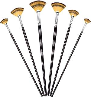 Conjunto de pinceles Conjunto de pinceles de ventilador para artistas Hecho de nylon de primera calidad para pintura acríl...