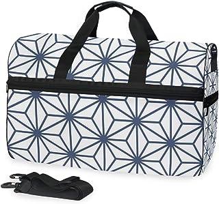 MONTOJ Schultertasche/Reisetasche mit fünf Spitzen, aus Segeltuch, Übergröße, Dunkelblau