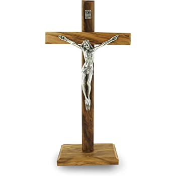 cristiana ampio Corpus in legno legno in piedi traversa 40cm ha fatto un passo base crocifisso