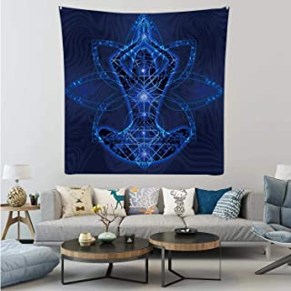 Hitecera Relaxation Meditation Trance Goa,Tapestry Wall Hanging Chakra Wall Art for Bedroom 59.1X59.1in
