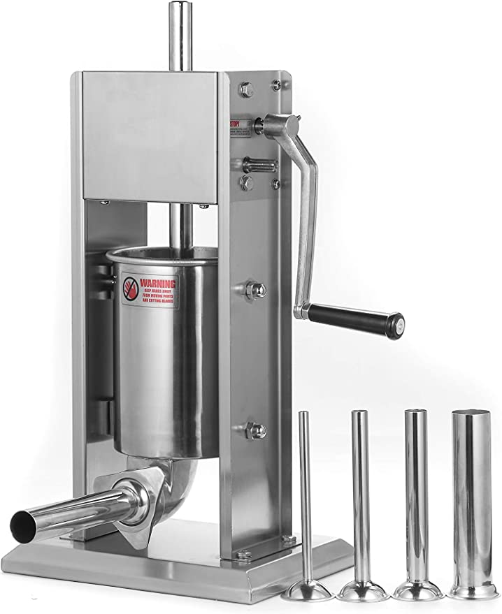 Hakka Stainless Steel Vertical Sausage Stuffer - Best Smooth Operation