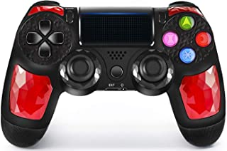 PS4 Controller Wireless Bluetooth Gaming Controller DS4 Double Vibration Gaming Joystick with Touch Pad High-Precison Gamepad for Playstation 4 / PS4 Pro(Ruby)