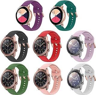 حزم HQzone متوافقة مع ساعة Galaxy Watch Active 2 40 مم 44 مم Galaxy Watch 3 41 مم Galaxy Watch Active 40 مم Gear Sport 20 ...
