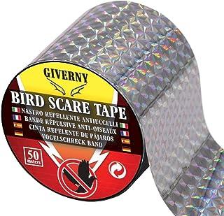 comprar comparacion GIVERNY Cinta Repelente de pájaros (50 m), para ahuyentar Aves como Palomas, gorriones, Cuervos.