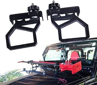 omotor Hood Hi-Lift Jack Hood Mounts Brackets Fit for 2007-2018 Jeep Wrangler JK