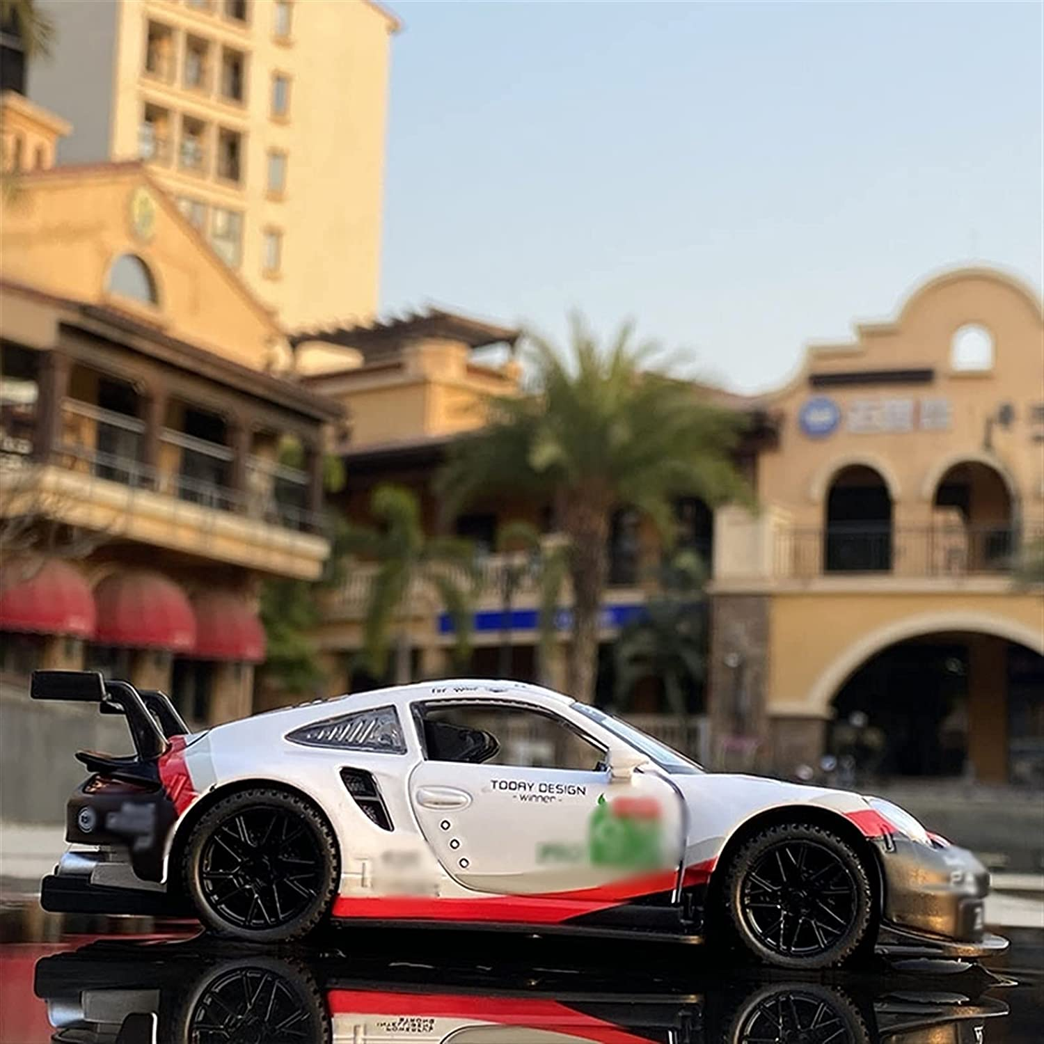 1:32 New mail order 911 Car Model RSR Racing Sound Surprise price Simulation Light and Pull Ba