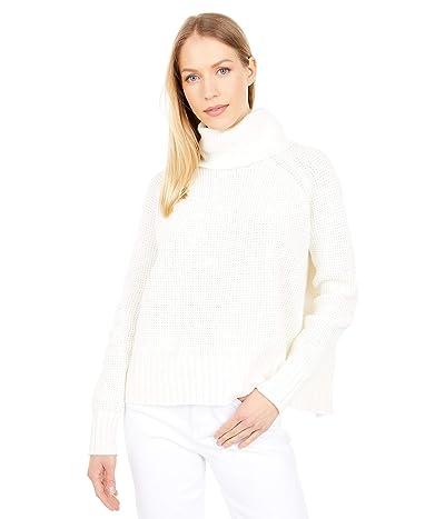 Madewell Eastbrook Turtleneck Cross-Back Sweater in Cotton-Merino Yarn (Bright Ivory) Women