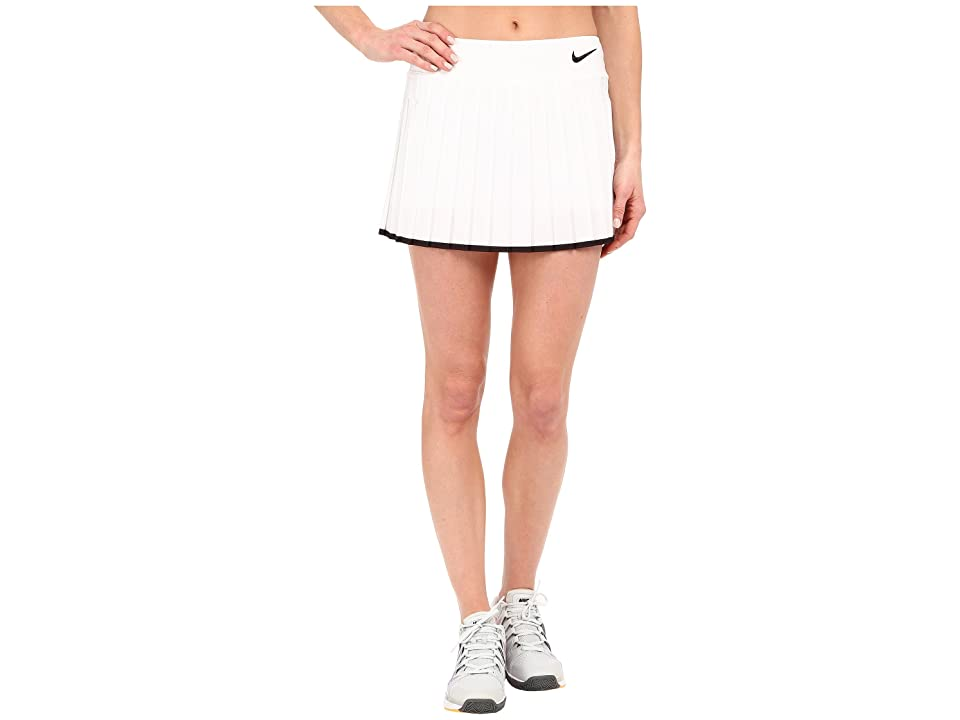 Nike Victory Skirt (White/Black/Black) Women
