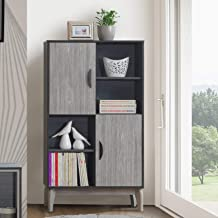 Maison Concept Montero Cabinet, Black and Grey - H 1400 x W 340 x D 800 mm