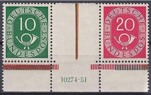 Goldhahn BRD Bund Zusammendruck WZ 1 HAN postfrisch  Briefmarken für Sammler