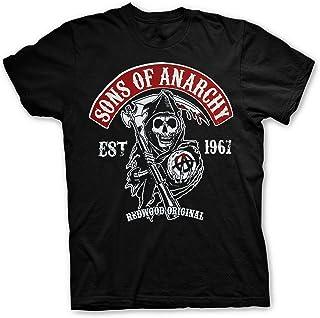 Sons of Anarchy Camiseta con Logo Samcro SOA T-Shirt - 100% Oficial