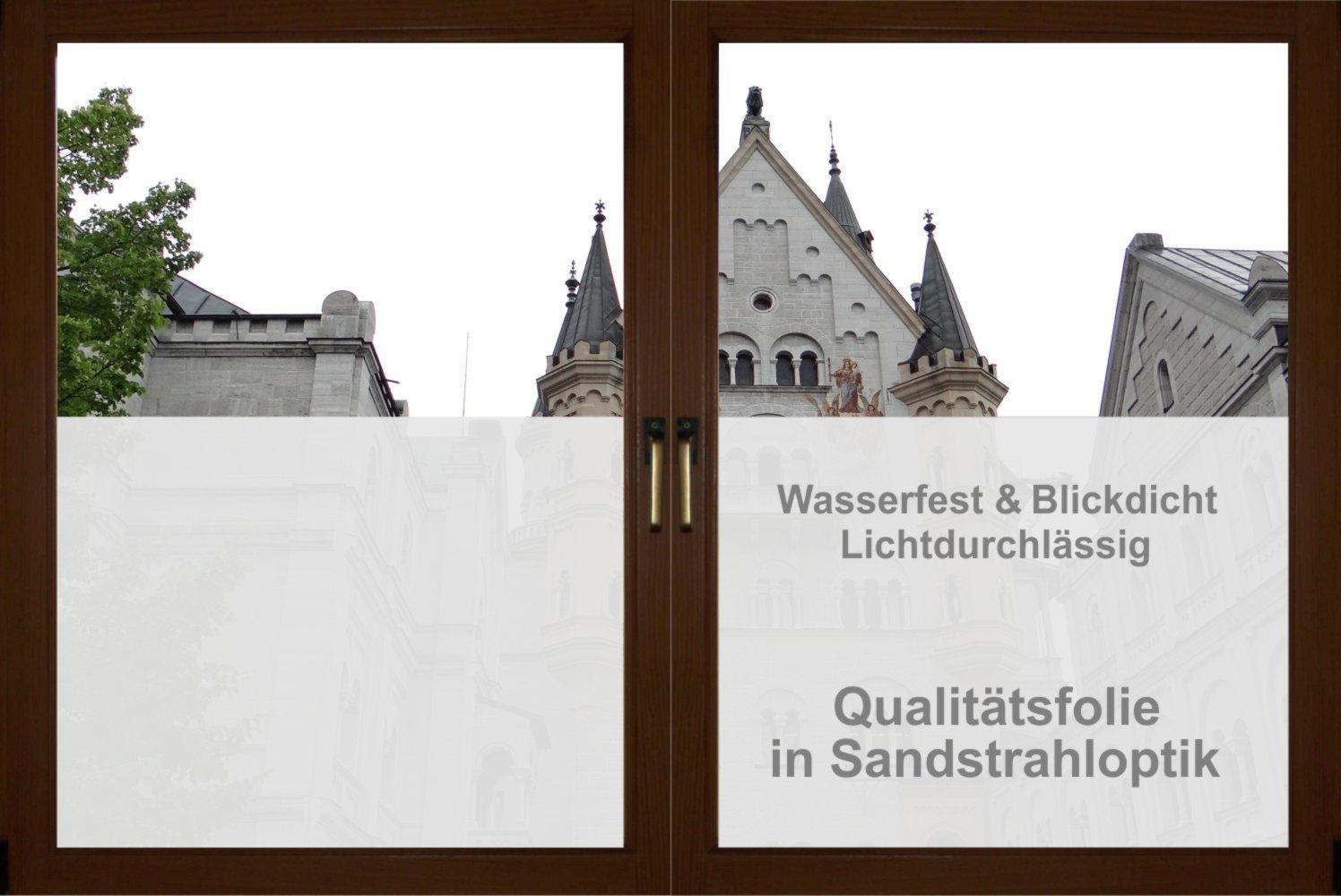 rs interhandel® GD20 / 20cm hoch Sichtschutz Folie Bad Badezimmer ...