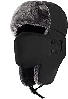mysuntown Winter Hats Cloth Face Mask Washable Winter Bandanas,Dustproof and Windproof Warm Hat for Men and Women