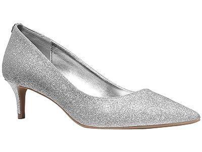 MICHAEL Michael Kors Sara Flex Kitten Pump (Silver) Women