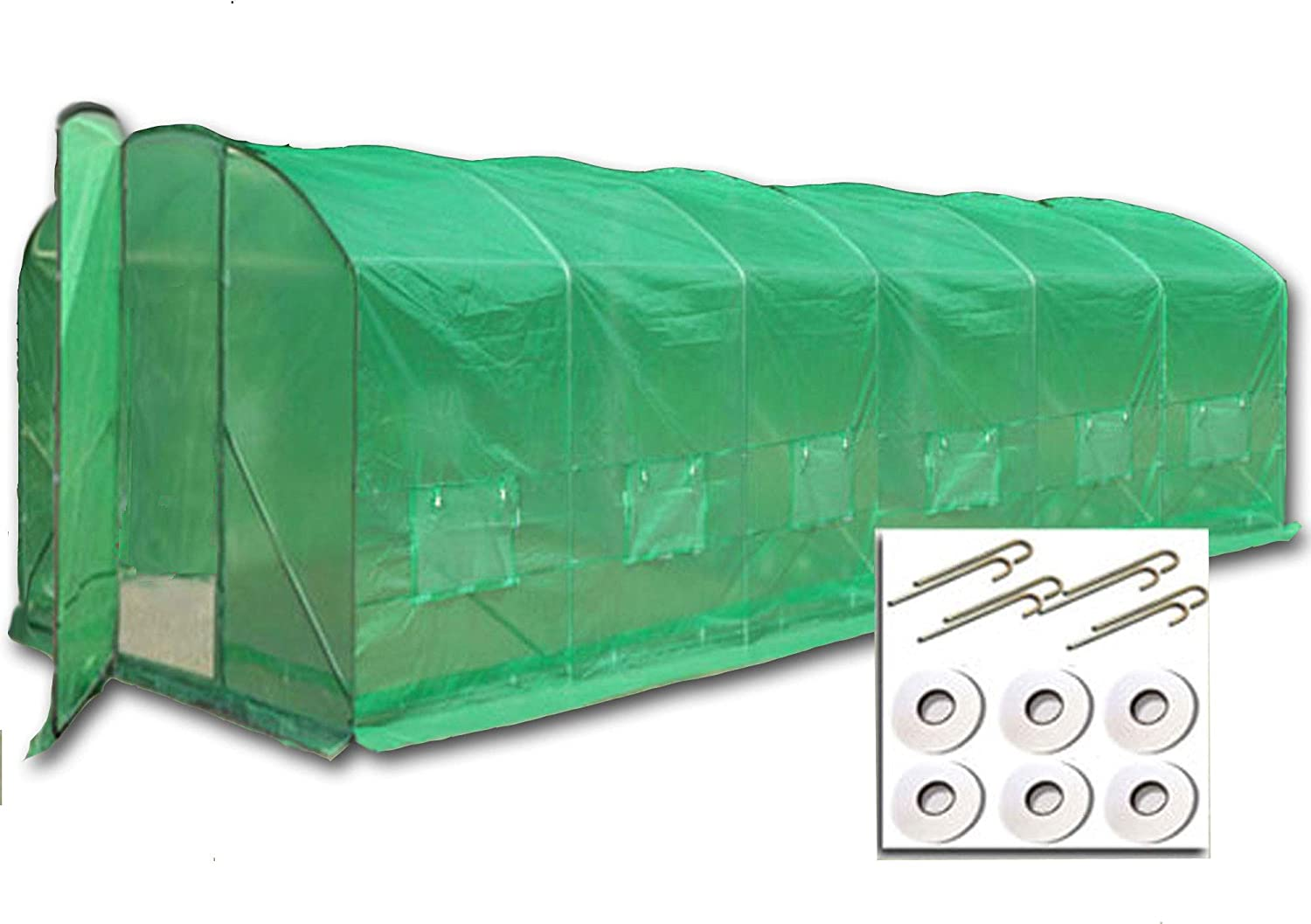 Crocodile Trading 8m x 3.5m + Anchorage Kit Extreme, High Side Extra Wide Polytunnels for the more serious grower. 32mm Frame, Full Height Bracing, Front & Rear Access.