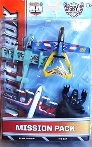 Matchbox Skybusters Mission Pack-BLAZE BUSTER & THE BAT (BDC51)