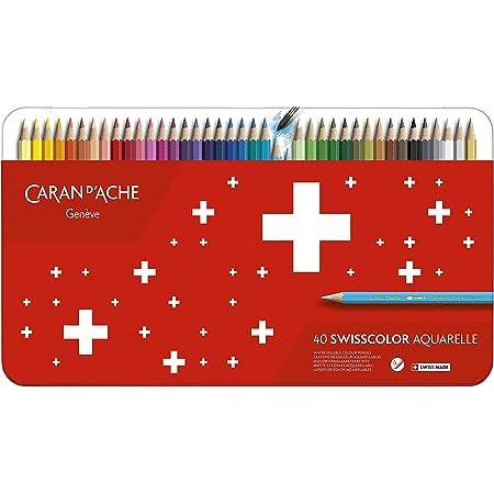Caran d'Ache 1285.740 SwissColor color matita con scatola di metallo, confezione da 40
