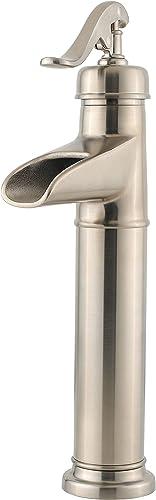 lowest Pfister LG40YP0K Ashfield wholesale Single sale Control Vessel Bathroom Faucet in Brushed Nickel, Water-Efficient Model sale