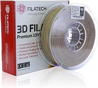 Filatech 3D Printing PLA-Wood Fiber Composite Filament 1.75 mm +/- 0.05 mm 1.0 Kg Spool 100% Virgin Material Made in UAE (Natural-Wood)