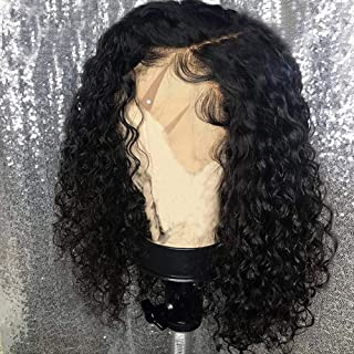 Diosa Short Curly Lace Front Wigs Human Hair For Black Women Short Bob 10 inch 150 Density With Baby Hair 100% Virgin Peruvian human hair (10