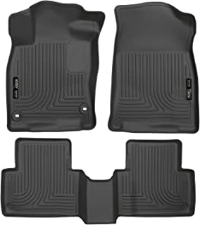 Husky Liners Fits 2016-19 Honda Civic Coupe/Sedan, 2016-18 Honda Civic Hatchback Weatherbeater Front & 2nd Seat Floor Mats