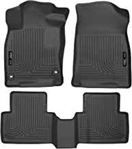 Husky Liners 98461 Black Weatherbeater Front & 2nd Seat Floor Liners Fits 2016-19 Coupe/Sedan, 2016-18 Honda Civic Hatchback