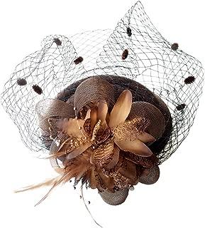 brown wedding hats and fascinators